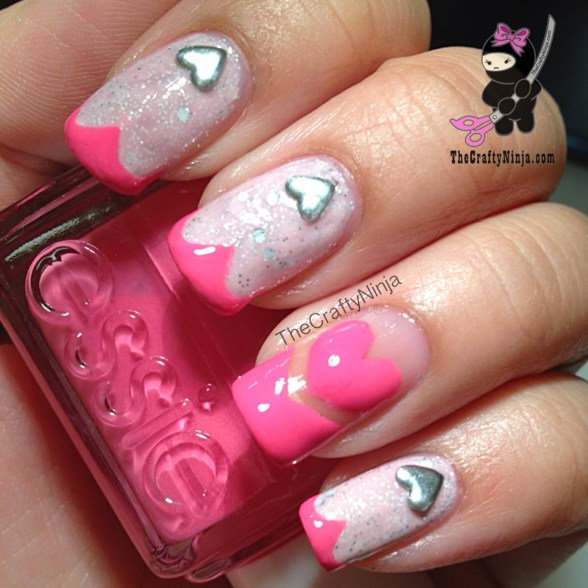 heart stud nails