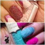 microbeads velvet nails
