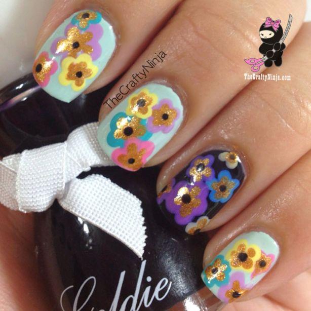 Pastel Spring Flower Nails