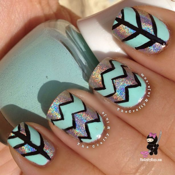 mint holo chevron