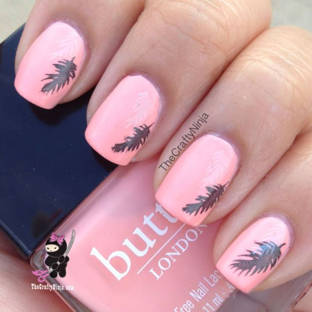 nail stamping feather