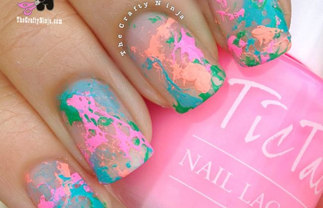 hairspray spotted nails