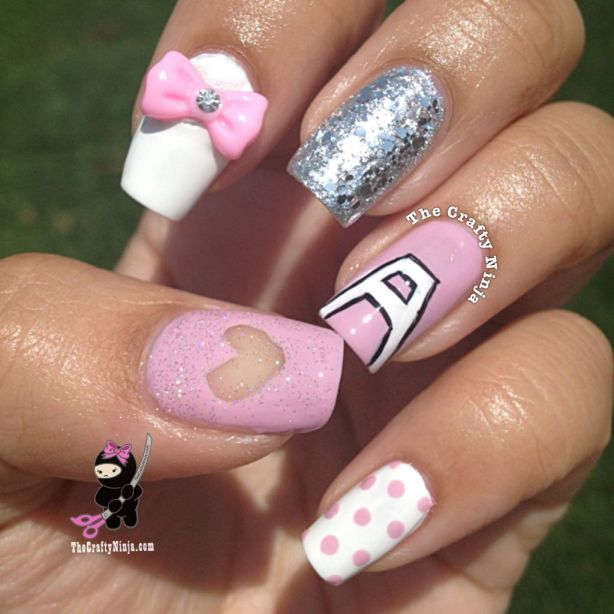 apink inspired nails