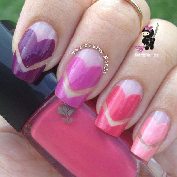 Cute Heart Nails