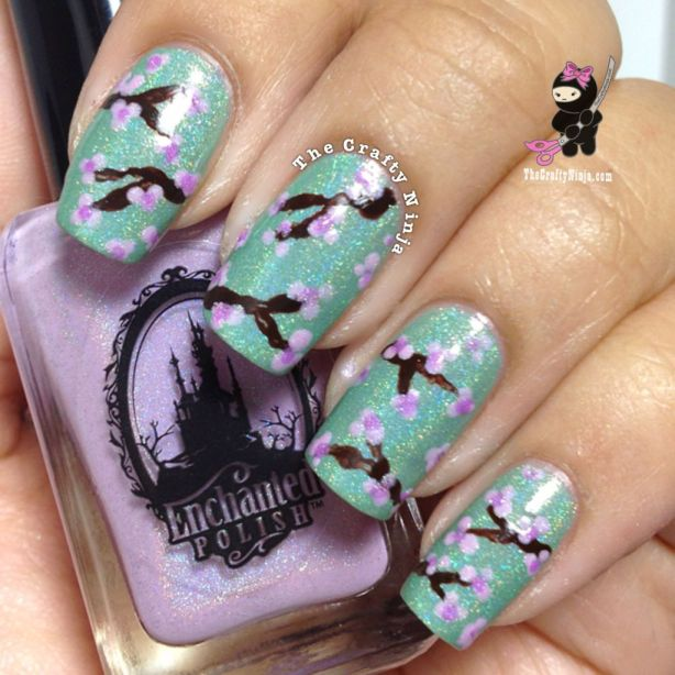 Cherry Blossom Nails