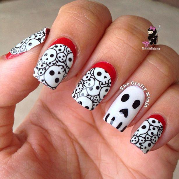 Halloween Ruffian Skull Nail