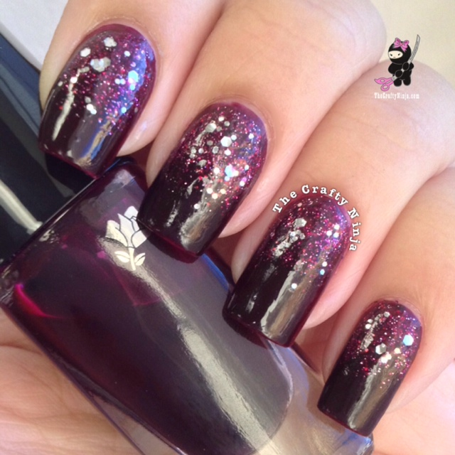 Diy Autumn Gradient Nail Art: Fall Color Glitter Gradient Nails