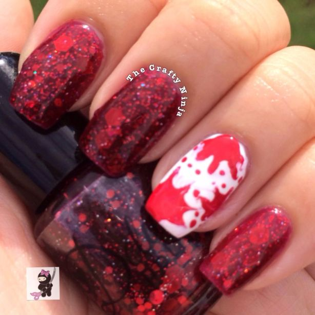 Born In Blood Splatter Nails