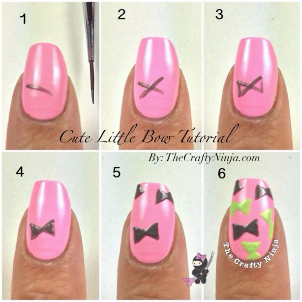 Cute Bow Nail Tutorial