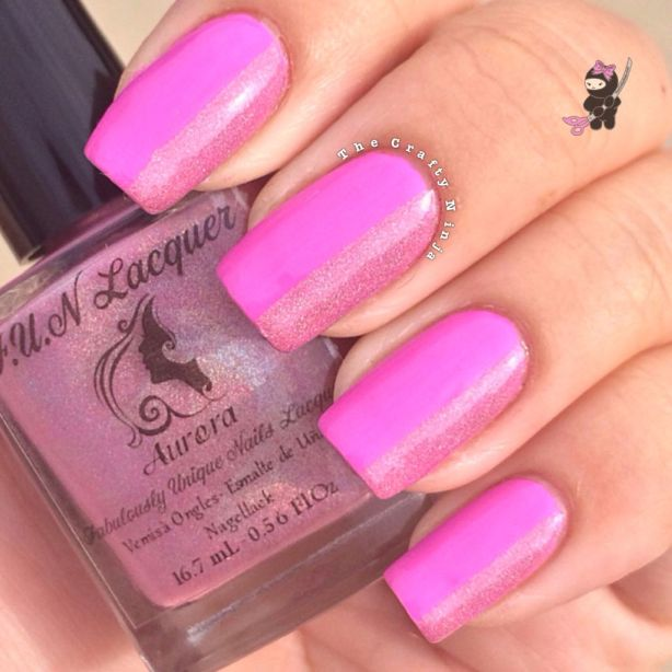 Pink Holo Nails