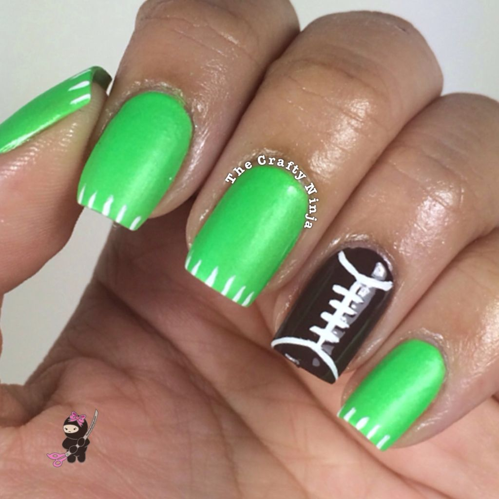 Football Nail Tutorial | The Crafty Ninja