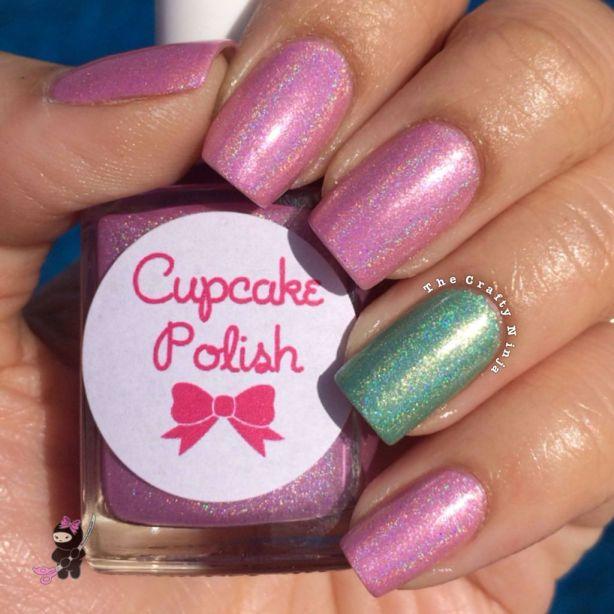 pink holo polish