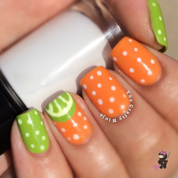 Citrus Orange Lime Nails