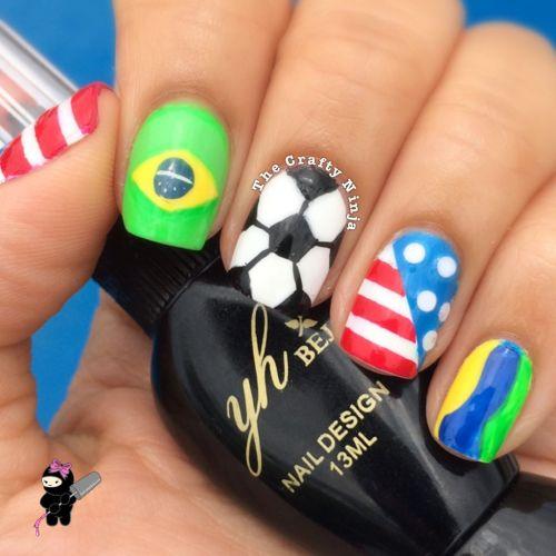 Brazil Soccer Nails
