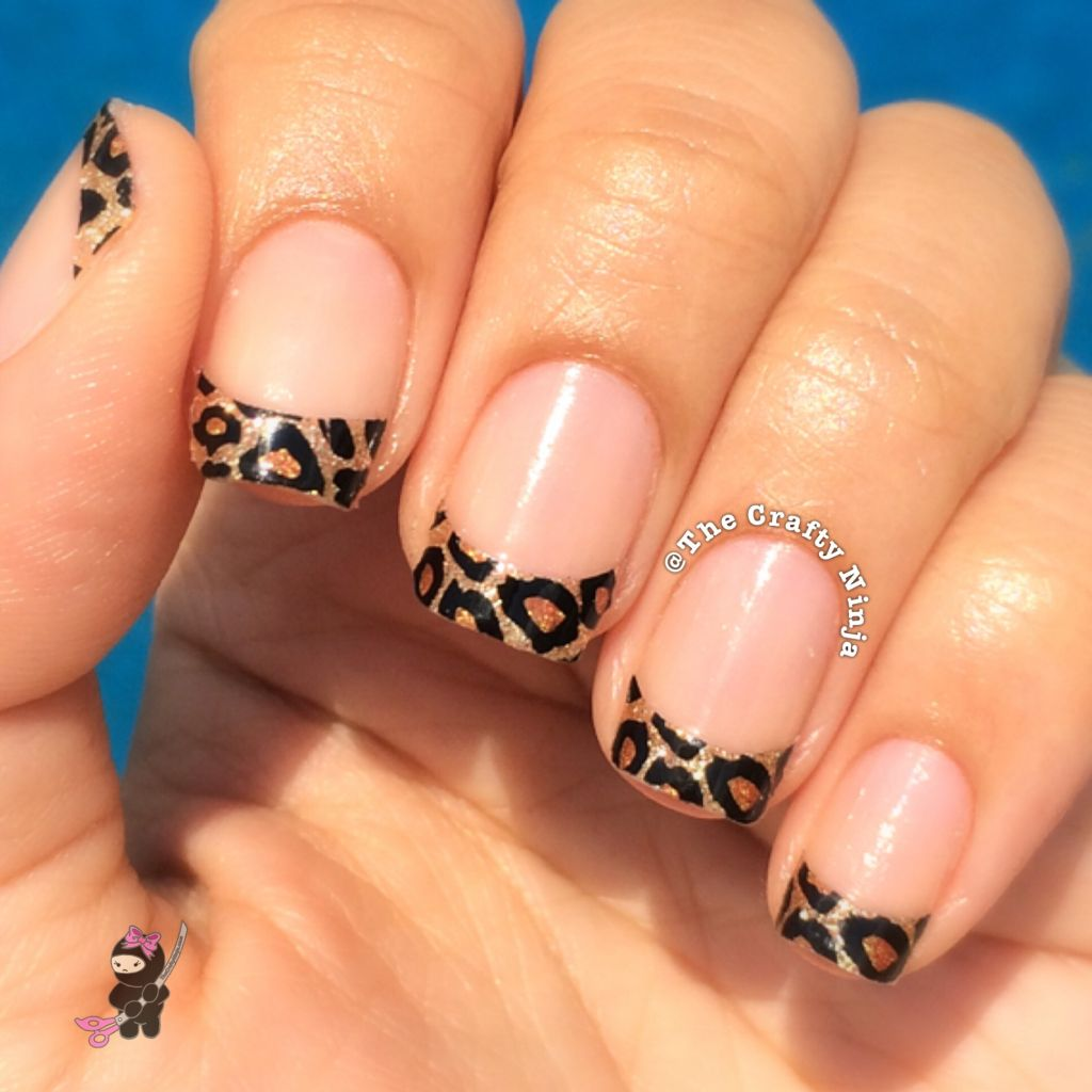 Leopard French Tip Nail Wrap | The Crafty Ninja