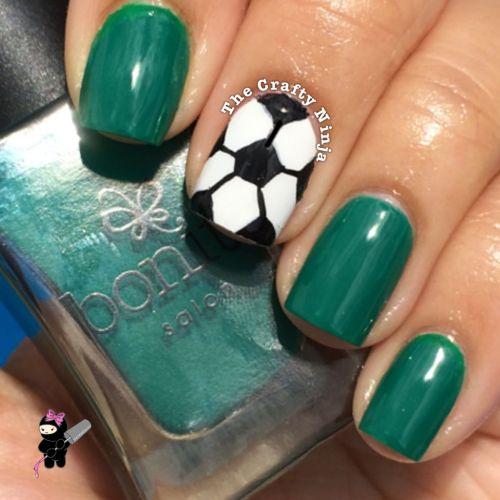 Soccer Ball Nails
