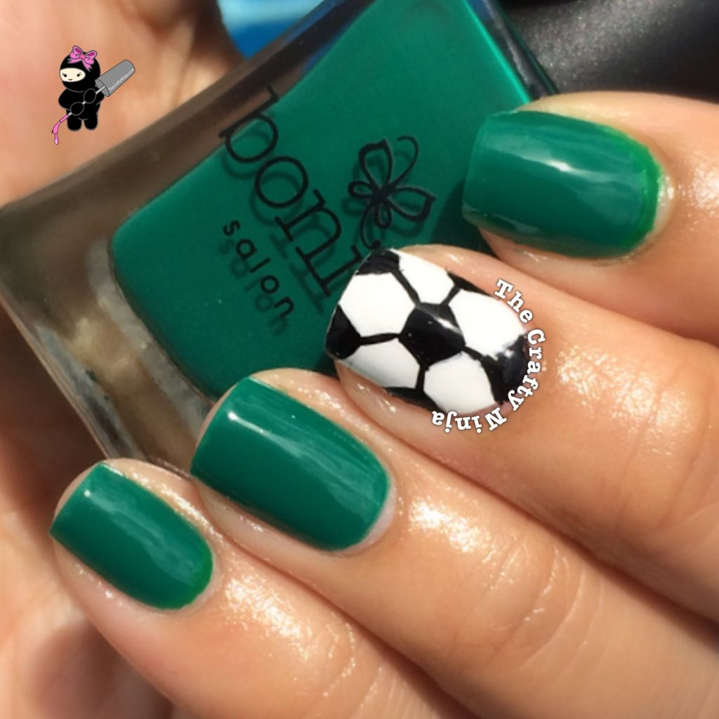 Soccer Nail Art - Soccer Ball Nail Art The Crafty Ninja