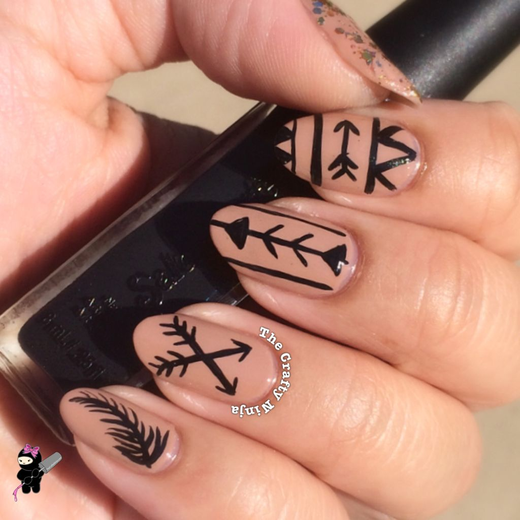 Tribal Arrow Nails | The Crafty Ninja