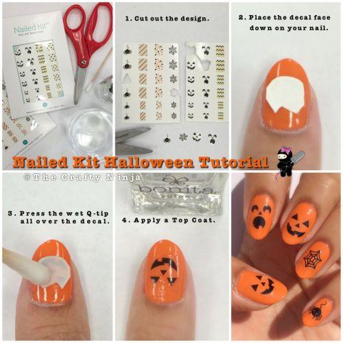 Nail Decal Halloween Tutorial