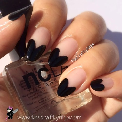 Heart French Nails
