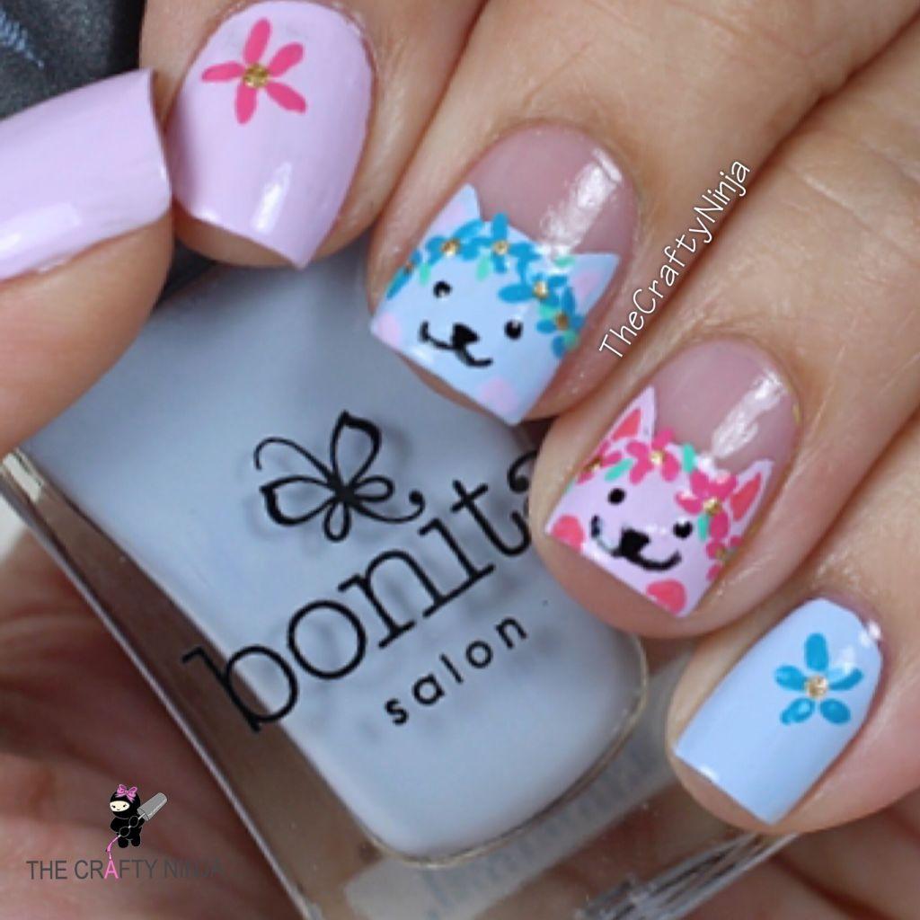 Flower Cat Nails