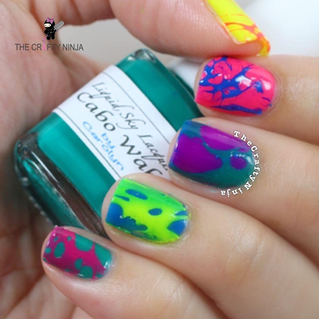 Hairspray Splatter Nails
