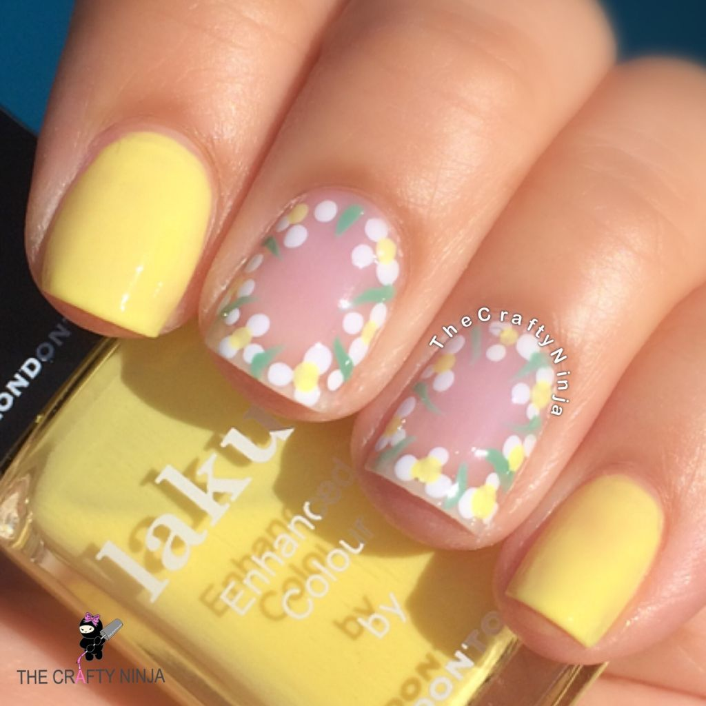Flower Negative Space Nails