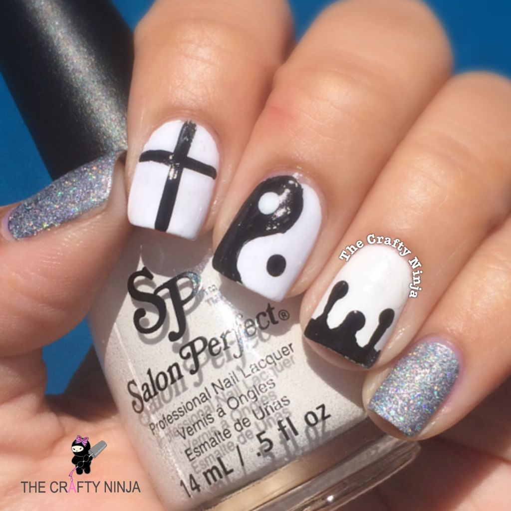 Black and White Yin Yang Nails | The Crafty Ninja