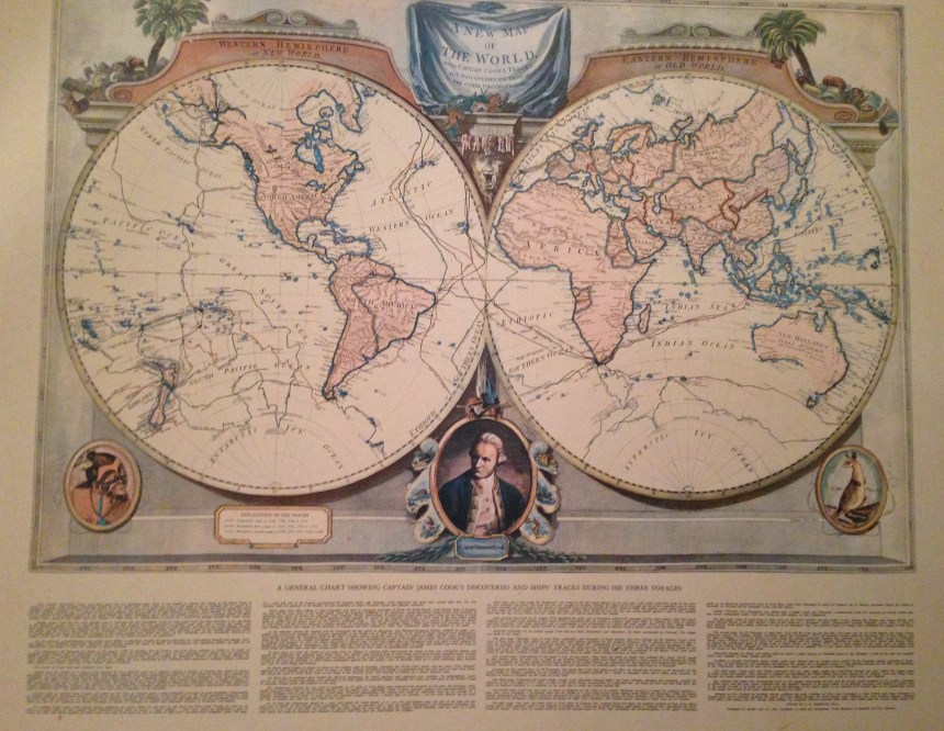 The world as recorded by Captain James Cook