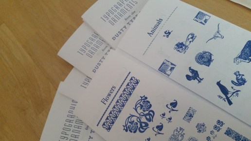 Inner pages: flower and animal ornaments