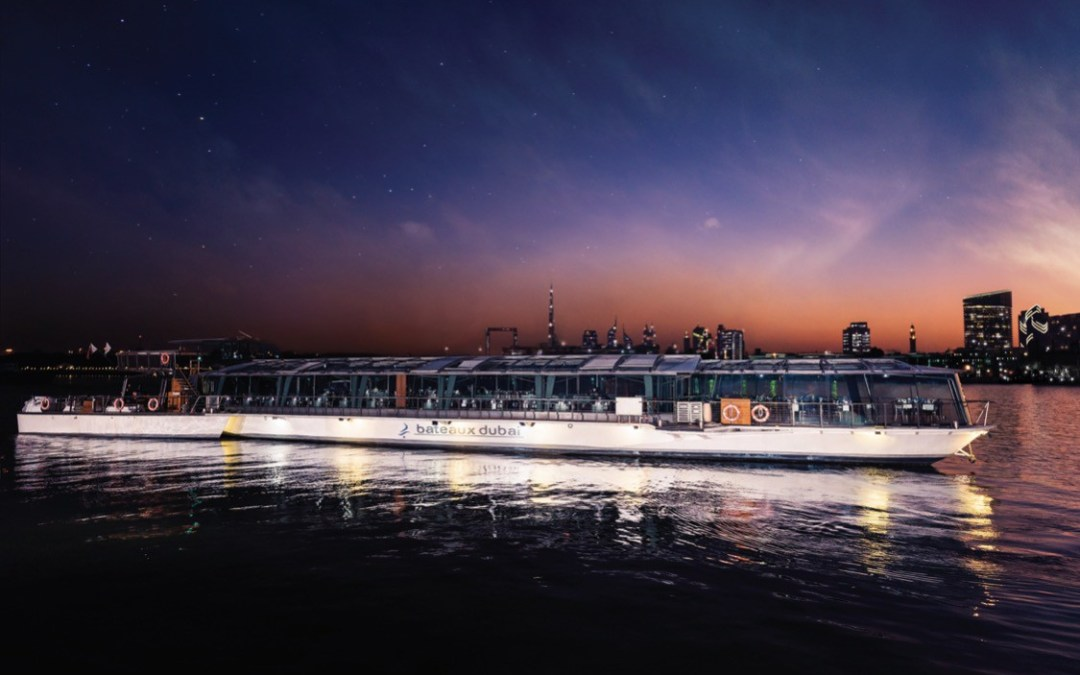 The Bateaux Dubai – a beautiful luxury dinner cruise experience.