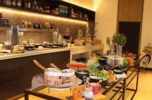 Breakfast at Larder restaurant, Radisson Blu Ajman.