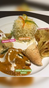 Delicious Indian meal at In room dining, Personal Balcony, Radisson Blu Resort and Spa Karjat