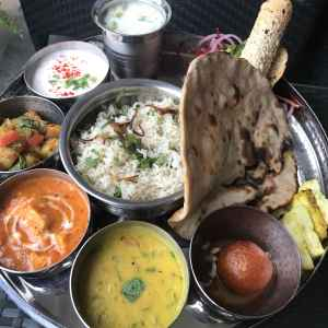 Sacred North Indian Thali. 24/7 Gallery Cafe, Hyatt Place Rameswaram
