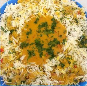 Dal Chawal Palidu a traditional Dawoodi Bohra Dish.