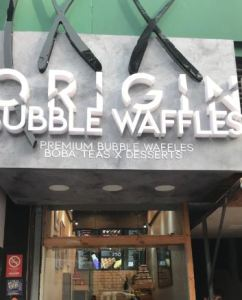 Origin Bubble Waffles at Carter Road, Bandra, Mumbai is a waffle heaven!