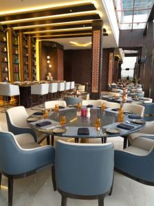 Nazaara,Rooftop bar and restaurant at Courtyard by Marriott, Hebbal.