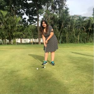 Golf at Poona Club Golf Course.