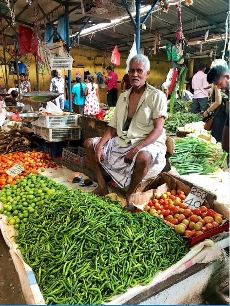 Local Vegetable Market, Kandy, Sri Lanka.