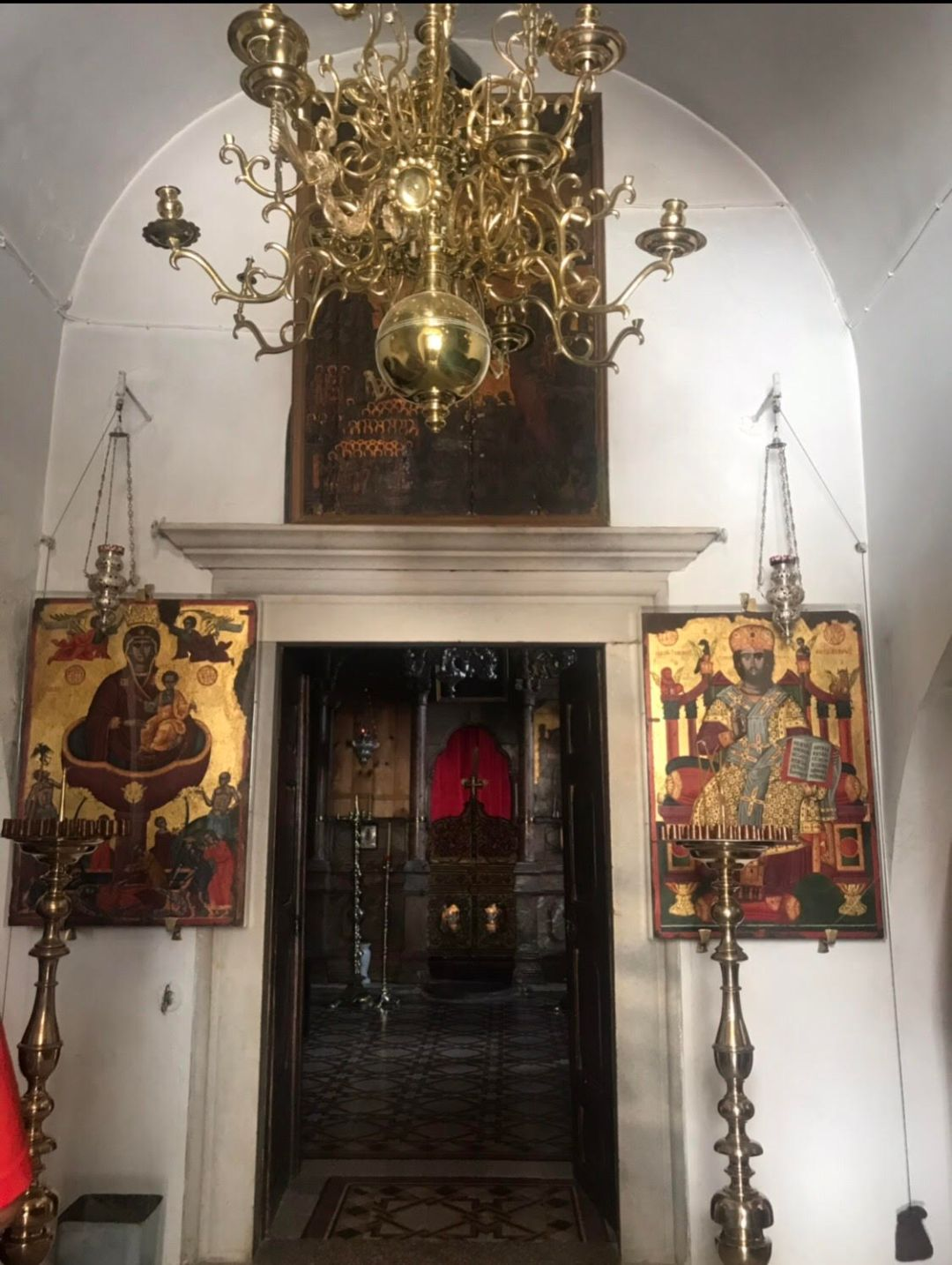 Traditional place of worship at Panachrantou Monastery, Andros.