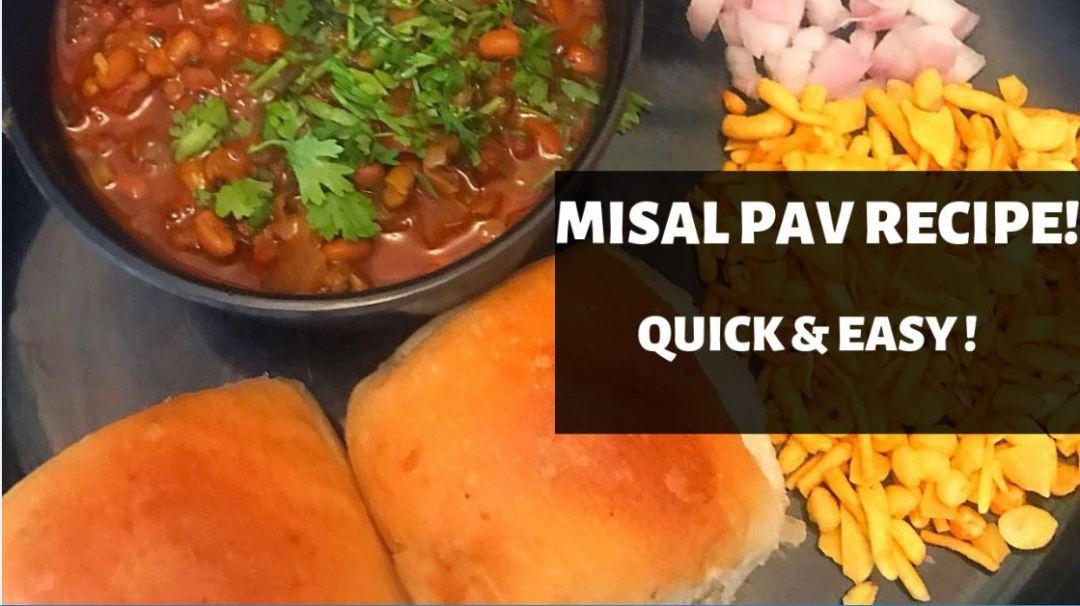 Quick and Easy Misal Pav Recipe. How to make Misal Pav.