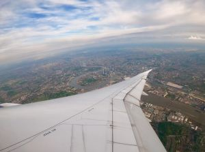 Landing into Heathrow, London.