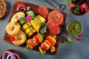 Starters platter at Punjab Grill, Phoenix Marketcity Kurla.