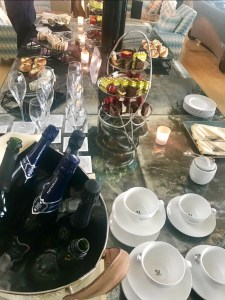 Afternoon tea spread at the Concorde room.