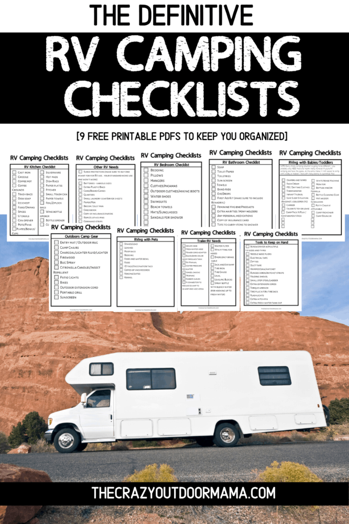 the ultimate rv camping checklists 9