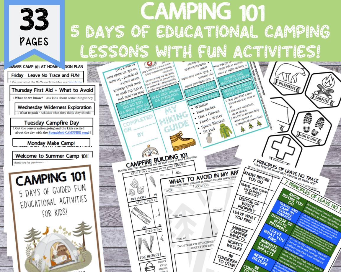 Diy Summer Camp 101 At Home With Printable Lesson Plans