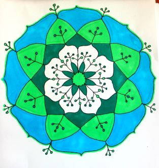 green blue mandala