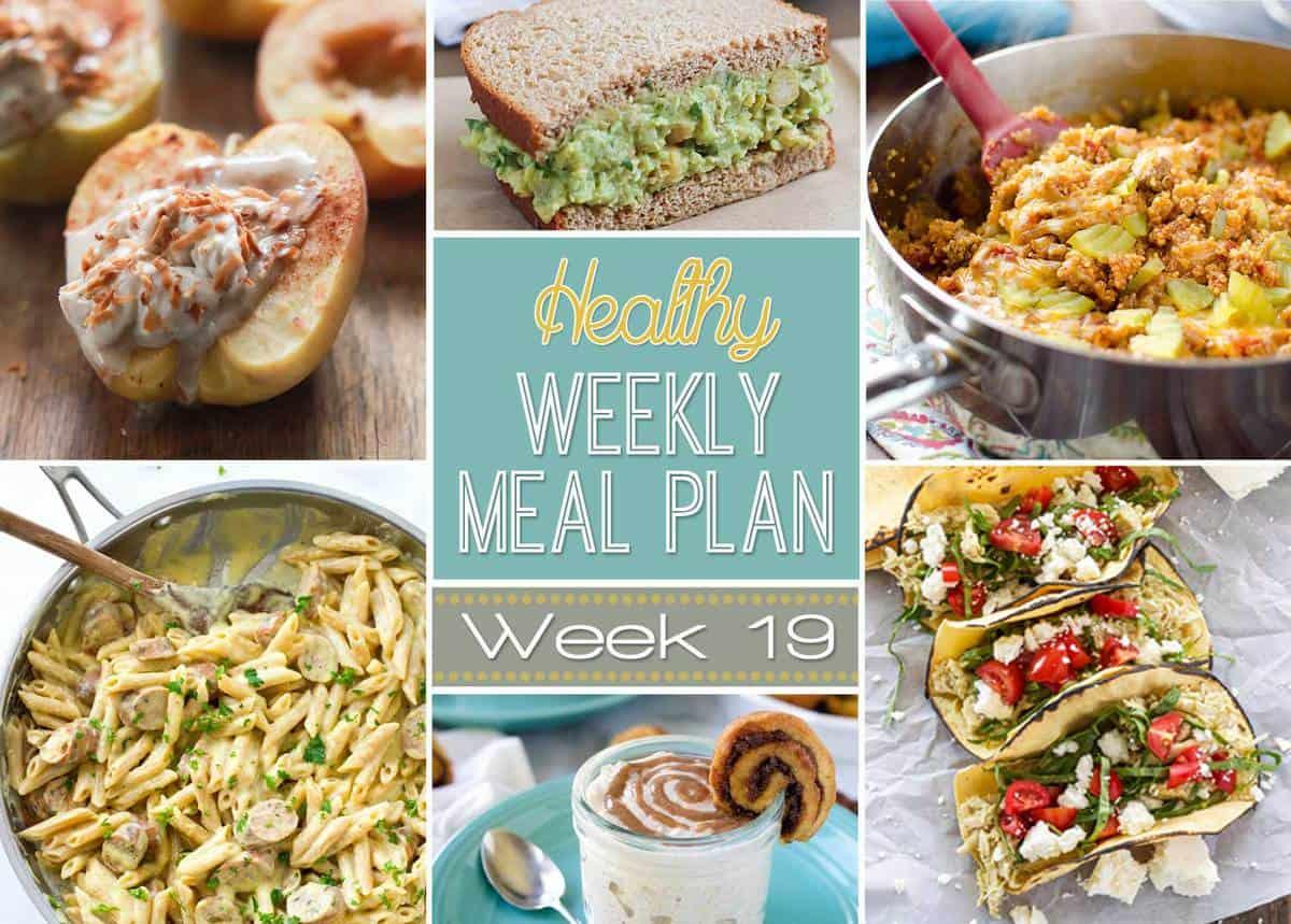 Healthy Meal Plan Week 19