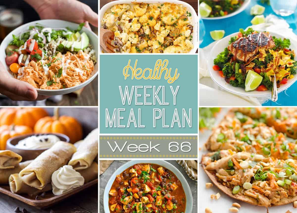 Healthy Weekly Meal Plan Week 66