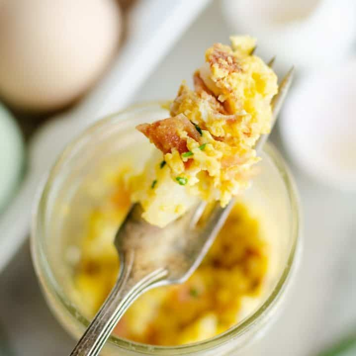 easy microwave scrambled egg cup recipes